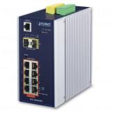 IGS-10020HPT Planet IP30 Промышленный управляемый L2+/L4 коммутатор 8-Port 10/100/1000T 802.3at PoE + 2-Port 100/1000X SFP