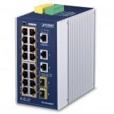 IGS-20160HPT Planet IP30 Промышленный управляемый L3 коммутатор 16-Port 10/100/1000T 802.3at PoE + 2-Port 10/100/1000T + 2-Port 1G/2.5G SFP