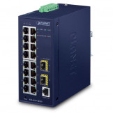 IGS-4215-16T2S Planet IP30 Промышленный управляемый L2+/L4 коммутатор 16-Port 10/100/1000T + 2-Port 100/1000X SFP