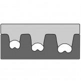 210762/E Haupa Обжимной инструмент для неизолированных кабельных наконечников